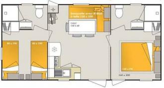 HOLIDAY HOMES SUITE 8,00 X 4,00 MT